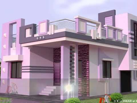 Most Beautiful Parapet Wall Design Youtube House Roof Design Small House Elevation Design Duplex House Design
