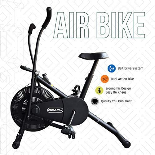 Reach Air Bike Exercise Cycle With Moving Handles Adjus Https Www Amazon In Dp B07dqmszjf Ref Cm Sw R In 2020 Best Exercise Bike Cycling Workout Biking Workout