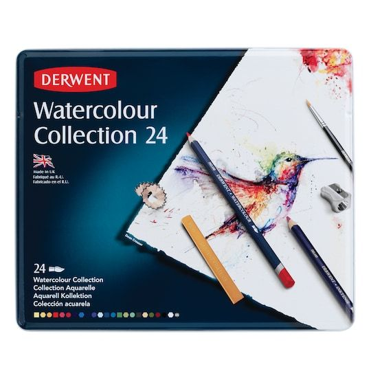 Derwent Watercolor Pencil Collection 24 Piece Tin Set Michaels