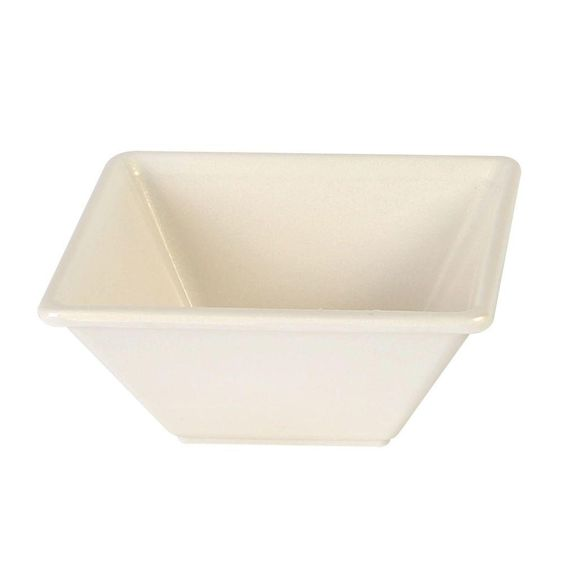 Jazz 11 oz., 4-3/4 in. x 4-3/4 in. Square Bowl, 2 in. Deep in Pearl (1-Piece)