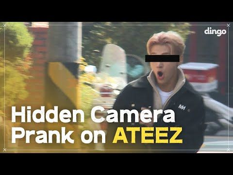 Hidden Camera Pranks On Kpop Idols Ft Ateez Eng Sub Dingo Kdrama Youtube Hidden Camera Real Life Love Stories Kdrama