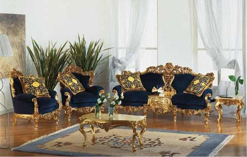 Victorian Gold Eolo Living Room Set