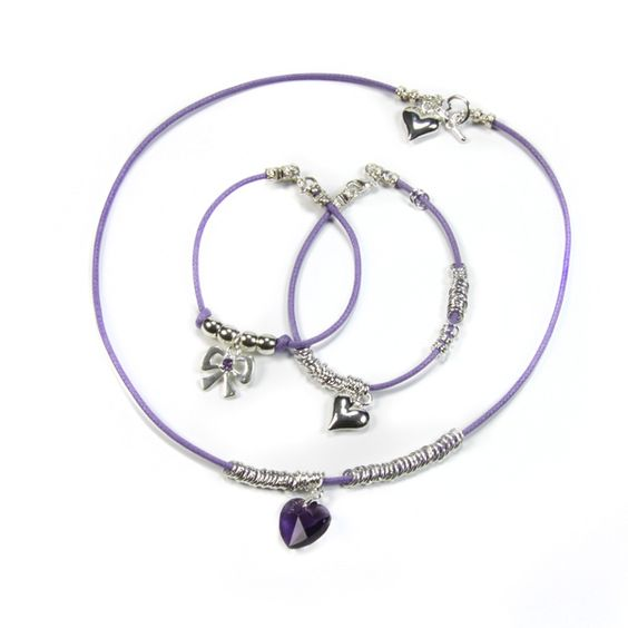 Necklace & Bracelet Charm Pippin Kit Purple RRP £19.99 from Burhouse Beads