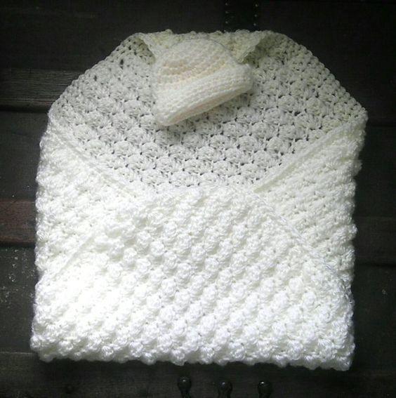 Extra Small Crochet Baby Blanket Pattern   Ganchillo para bebés ...