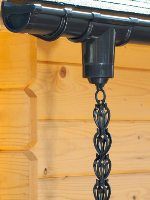 Chain For Rain Water Drainage To Attach To The Guttering Of Your Shed Summer House Log Cabin Garden Chalet Garage Or Carport Rain Chain Gutters Pvc Gutters