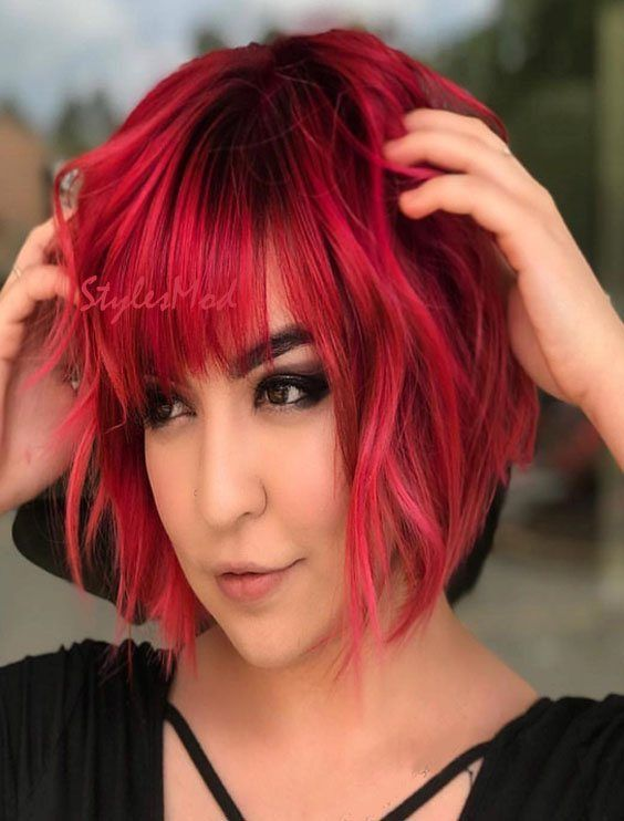 19++ Red bob hairstyles 2019 information