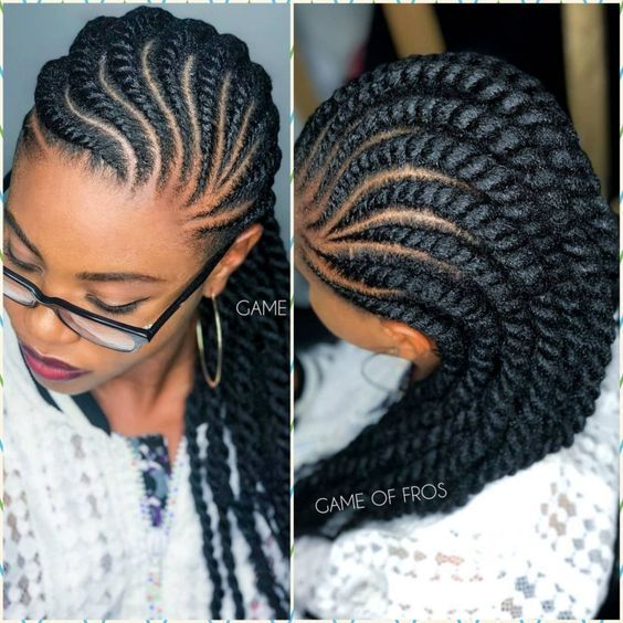 Amazing Natural Hair Twisting Styles The Most Recent Beautiful And Nice Styles For Natural Hai African Braids Hairstyles Hair Twist Styles Cornrow Hairstyles