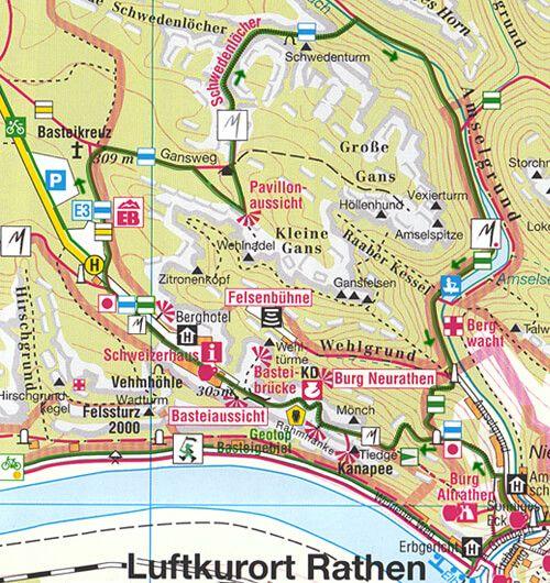 Wanderkarte Vordere Sachsische Schweiz Sachsen Kartographie Dresden Gmbh Sachsische Schweiz Sachsische Schweiz Bastei Schweiz