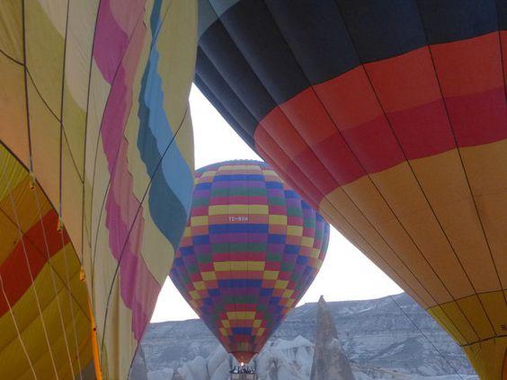 Ballooning in Cappadocia.