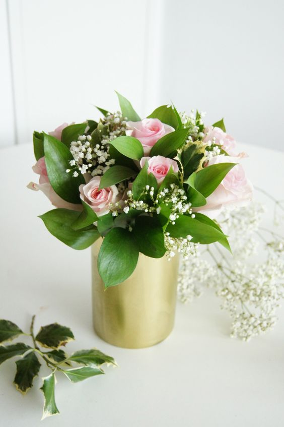 Simple rose arrangement - perfect for a little girl birthday!