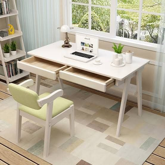 Pin By Mustafa Fahad On Home Office In 2020 Computer Table Desk With Drawers Table And Chair Sets