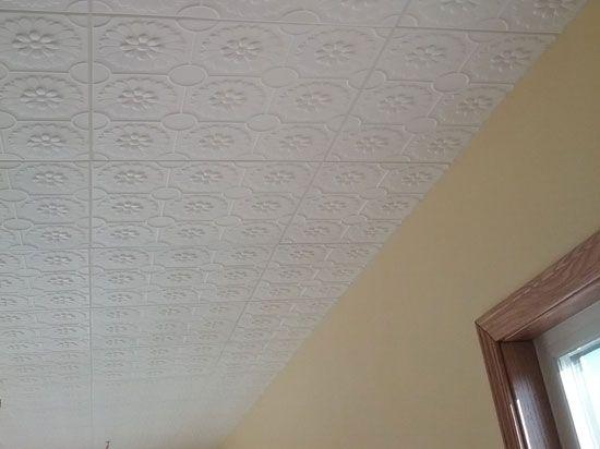 Sunflowers Styrofoam Ceiling Tile 20 X20 R136 Plain