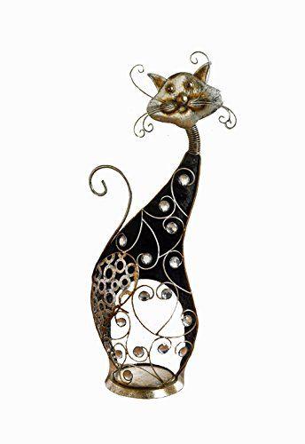 """Deko-Figur """"Schimmer-Katze"""" 29 x 15 x 64 cm Frank Flechtwaren http://www.amazon.de/dp/B00UN7J59M/ref=cm_sw_r_pi_dp_qc-exb1FRHB3V"""