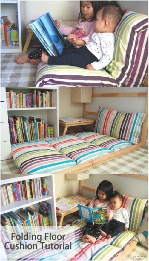 22 Easy Diy Giant Floor Pillows And Cushions That Are Fun And Relaxing Diy Kids Furniture Floor Pillows Diy Giant Floor Pillows
