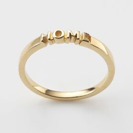 "Home Ring in 18ct Gold Plate $139  ""home is where the heart is"""