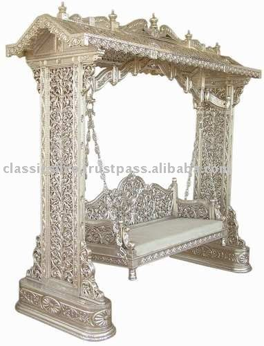 royal hand carved silver swing jhula furniture royal silver furniture from rajasthanview alibaba furniture