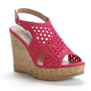 mudd crochet wedge sandals kohls let s get some