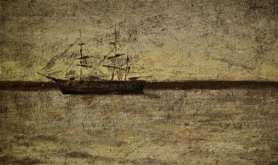 1896-Paisaje marina con velero
