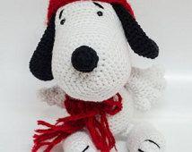 Uncinetto giocattoli - Snoopy Crochet - stile Amigurumi - Hand Crafted - giocattoli fatti in casa - incredibile regalo Handmade