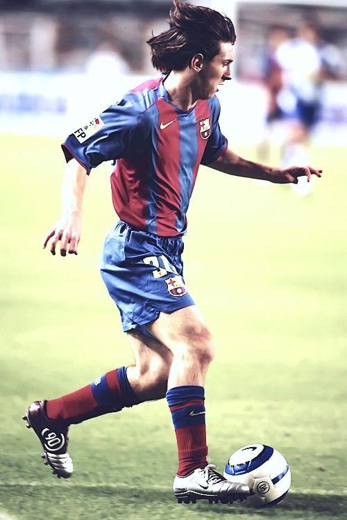 Leo Messi, en sus inicios con el primer equipo azulgrana.