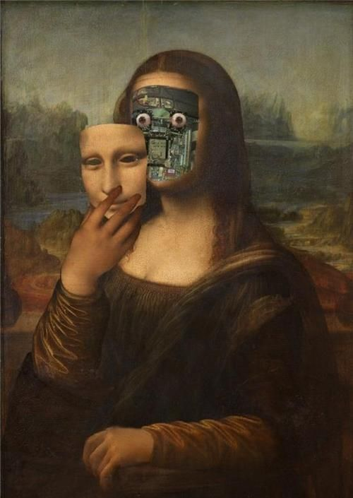 the secret behind the smile... - (mona lisa)(face)(robot ...