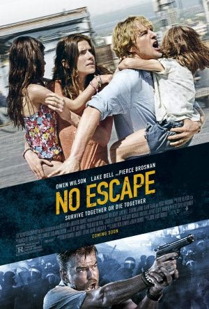 No escape (22/06/16) In their new overseas home, an American family soon finds themselves caught in the middle of a coup, and they frantically look for a safe escape in an environment where American businessmen are being immediately executed due to economic problems caused by the IMF and World Bank. In my opinion, they are likely depicting Thailand's civil unrest between 2010 and 2014.