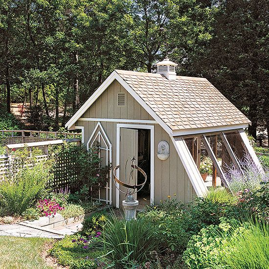 better homes gardens greenhouse plans wonder if i can turn the back of my garage into this things i like pinterest greenhouse plans - Garden Sheds Greenhouses Combined