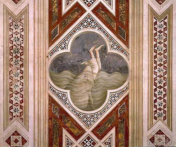 Giotto Di Bondone Jonah And The Whale C 1305 Jonah And The Whale Art Giotto