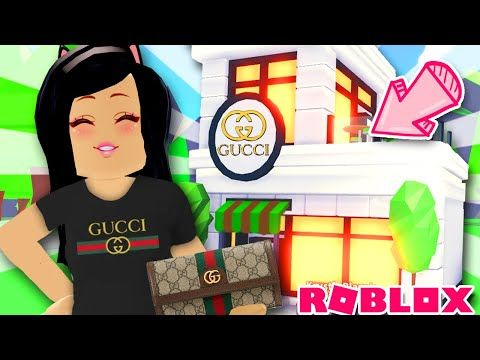 I Opened Gucci In Adopt Me Shop Home Tour House Store Sleek Modern Youtube In 2020 Shop House House Tours Adoption