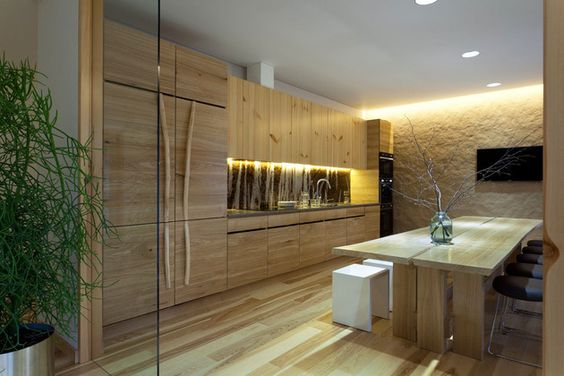 Pale Wood and Bright Color Combination Showcased by Ryntovt DesignStudioAflo | Interior Design Ideas | StudioAflo | Interior Design Ideas