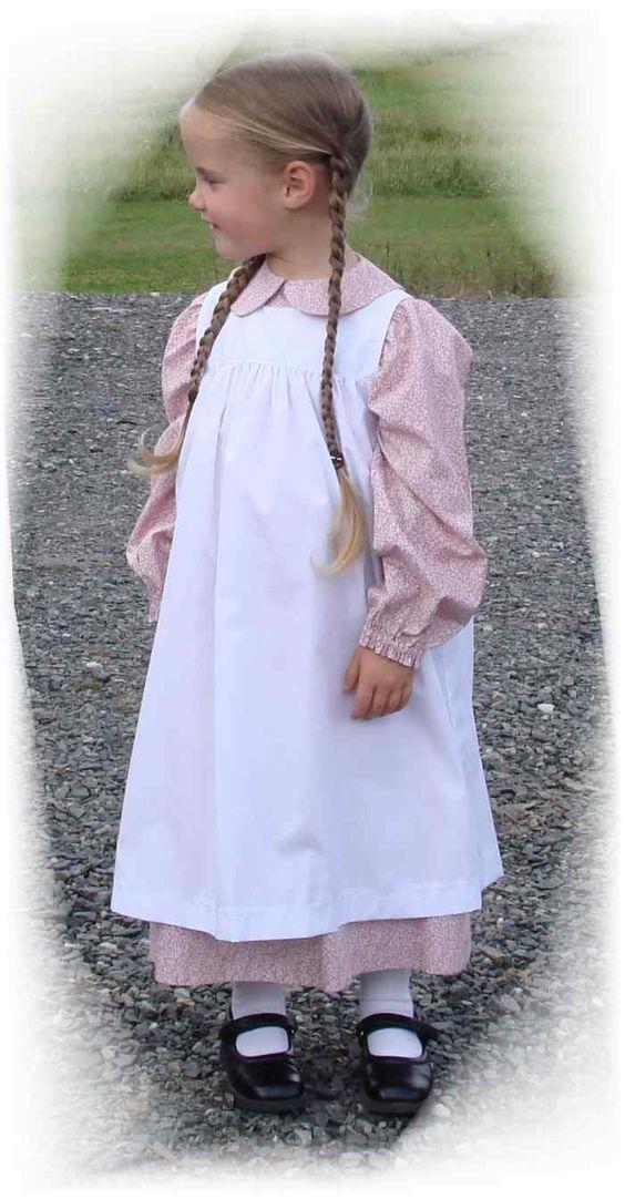 Laura Ingalls Wilder Dress Pinafore Bonnet Patterns