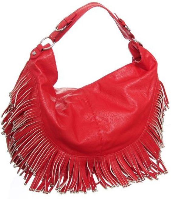 Extra-Large ''Boho Fringe'' Crossbody Hobo Handbag