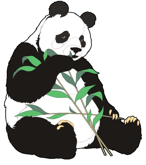 clipart panda winter - photo #40