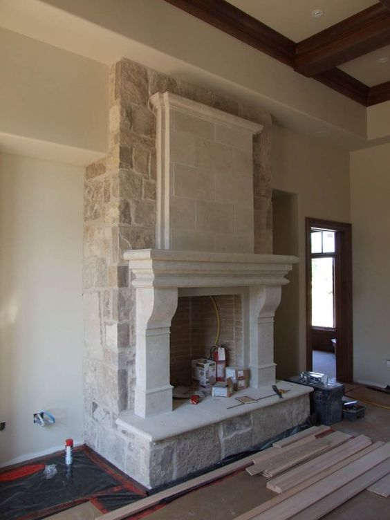 Cast Stone Fireplaces Stone Cast Fireplace Mantels Mantel Surrounds For The Home Pinterest