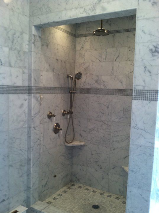 stand up shower the faucet and hose would be gold i would make the walls a lighter gray. Black Bedroom Furniture Sets. Home Design Ideas