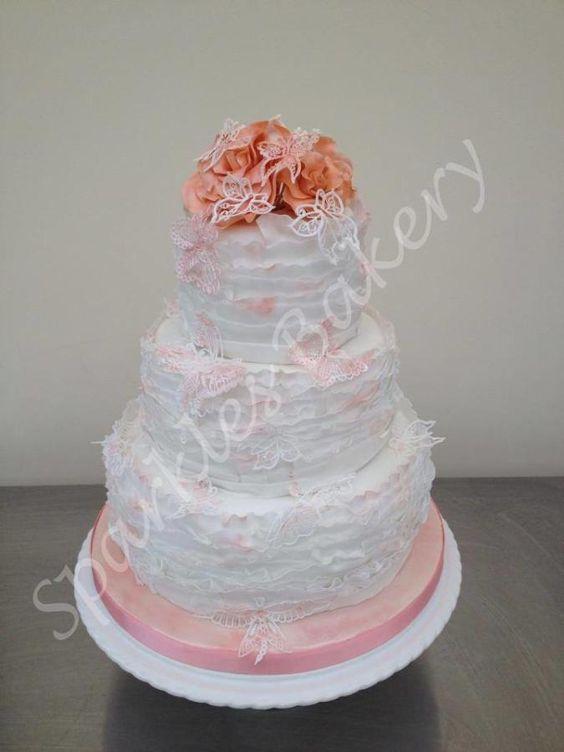 Butterfly Ruffle Cake