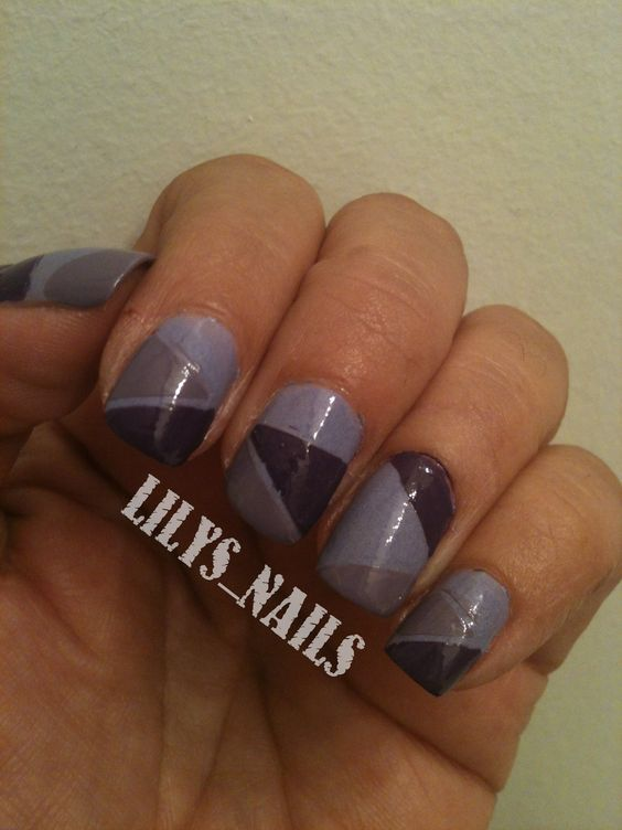 31 day challenge 2012: Day 06, Violet nails