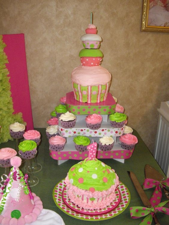 Love the tiered Cupcake Cake!