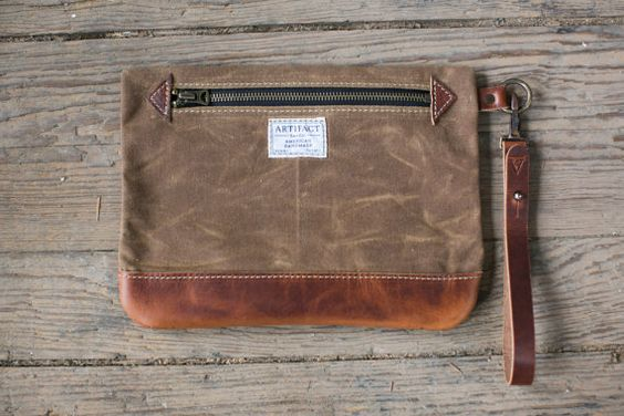 No. 9 Personal Effects Bag w/ Leather Wristlet
