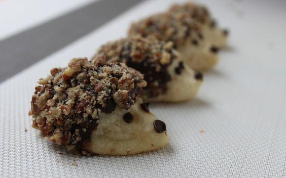 Hedgehog cookies... How cute!