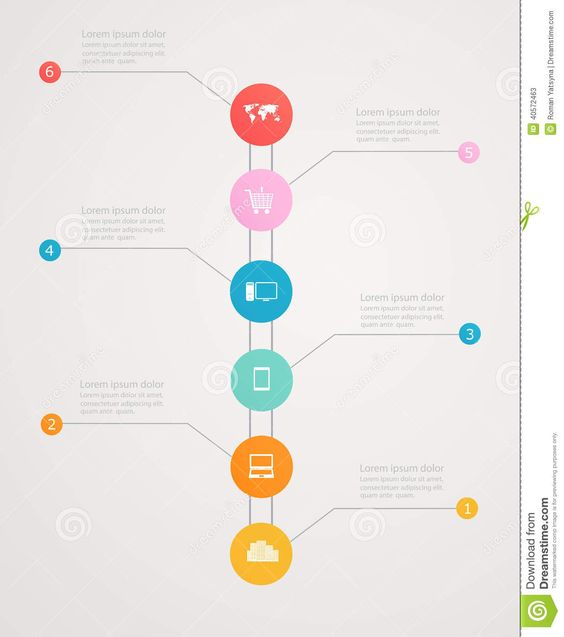 best vertical timeline infographics - Google Search | 数据制图 ...