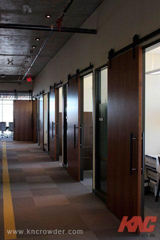 Sliding Door Kit Is Used Here In An Office Building Calgary Alberta