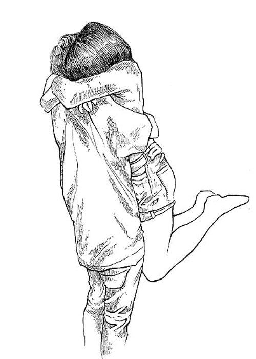 draw, hug, love | Desenhos e pinturas
