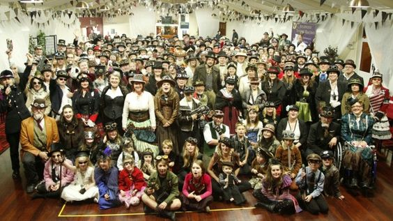 Steampunks gathered on Queen's Birthday Weekend at Steampunk NZ Festival in…