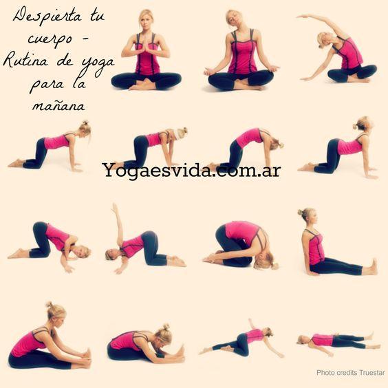 Excelente rutina de yoga para despertar tu cuerpo por la ma ana varios pinterest yoga - Ejercicios yoga en casa ...
