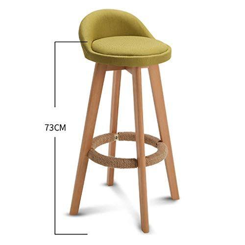 66gyy Bar Stool Nordic Modern Minimalist Household Solid Wood High