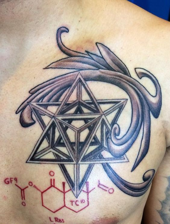 Geometric Lines By Ram Perez Rampage Tattoo 1425 Westheimer Rd, Houston, TX 77006 www.rampagetattoo.com #geometrictattoos #linetattoos #symetrictattoos #blackandgreytattoos #sciencetattoos #chesttattoo #uniquetattoos #tattoo #houstontattoo #ramperez