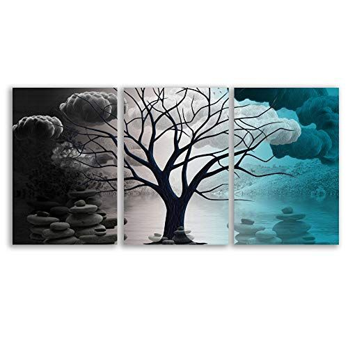 Abstract Cloud Tree Pictures Home Wall For Bedroom Living Room Oil Paintings Framed X 3 Panels Living Room Oil Painting Oil Painting Frames Abstract Cloud