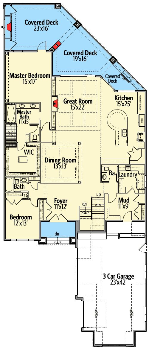 Plan 81662ab Second Floor In Law Suite In Law Suite Narrow House Plans House Plans