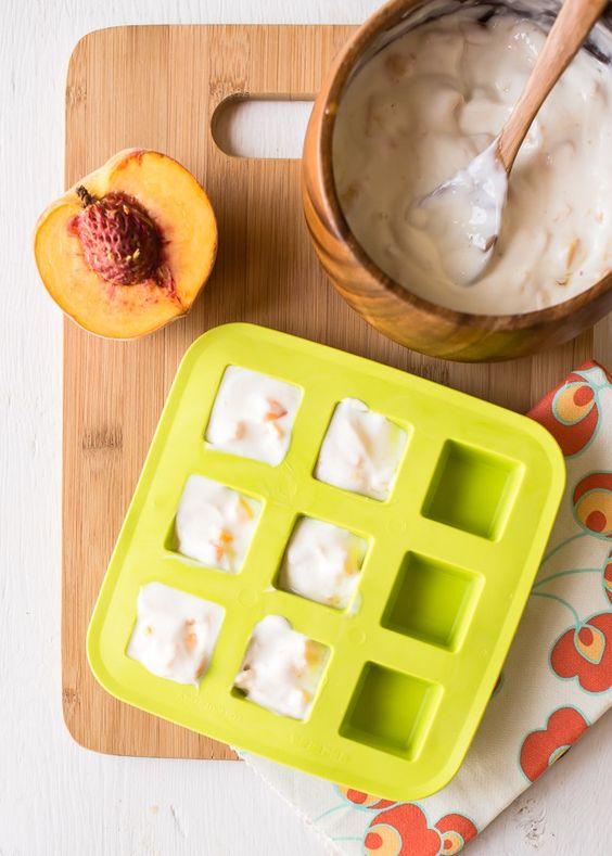 Peach Honey Frozen Yogurt Bites   HelloGlow.co